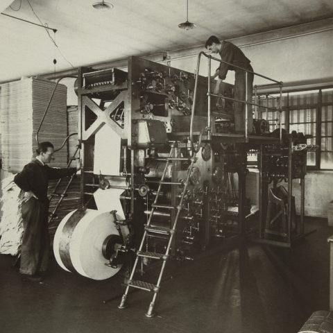 Tipografia Messaggero, prima rotativa, 1939