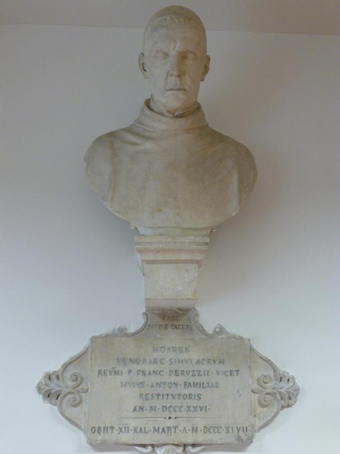 Il busto di P. Francesco Peruzzo