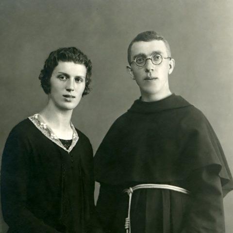 Padre placido con la sorella Nina