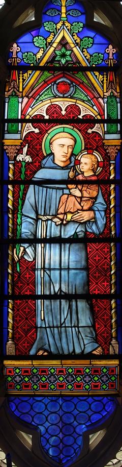 Padova – Basilica di S. Antonio – Il Santo nelle vetrate del rosone meridionale, Sec. XIX