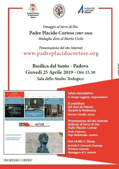 Presentazione sito.padreplacidocortese.org