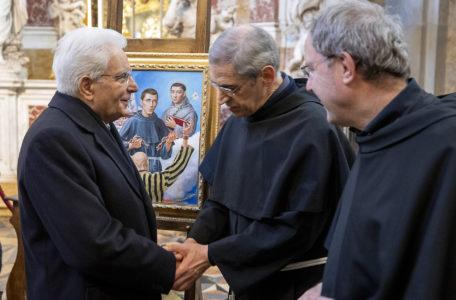 Il Presidente Mattarella, in visita alla Basilica di Sant'Antonio,- 7 Febbraio 2020