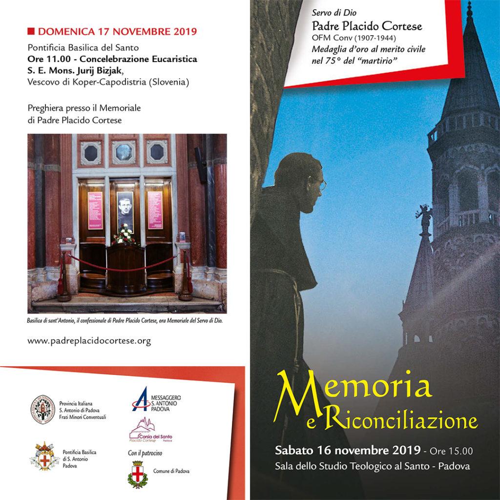 Padova, Sala dello Studio teologico presso la Basilica del Santo, 16 novembre 2019