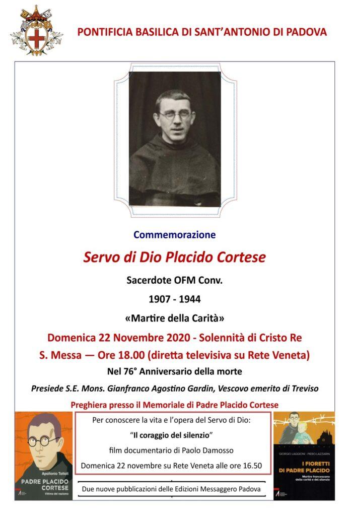 COMMEMORAZIONE DEL SERVO DI DIO PLACIDO CORTESE NEL 76° ANNIVERSARIO DEL MARTIRIO