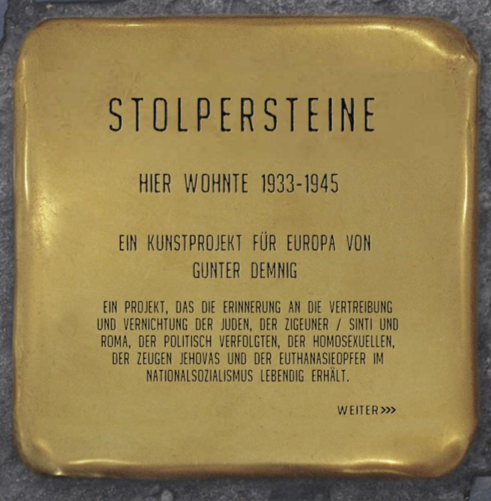 Sito Stolpersteine