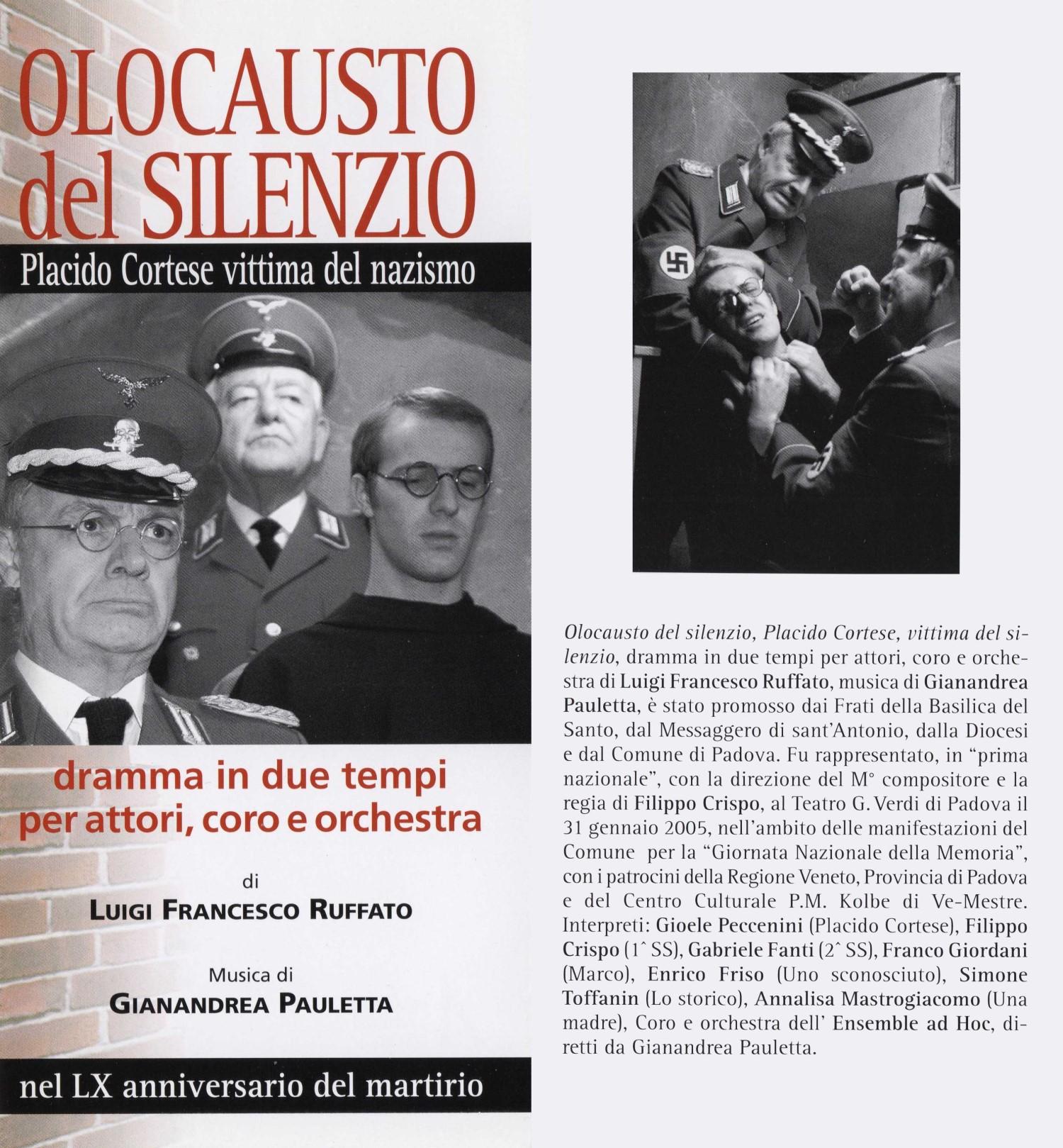 Olocausto del silenzio - Dramma: Padre Ruffato