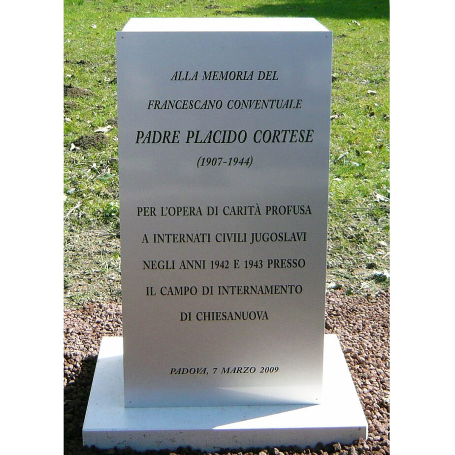 testimonianze dell'opera di soccorso e di pace di Padre Placido Cortese]